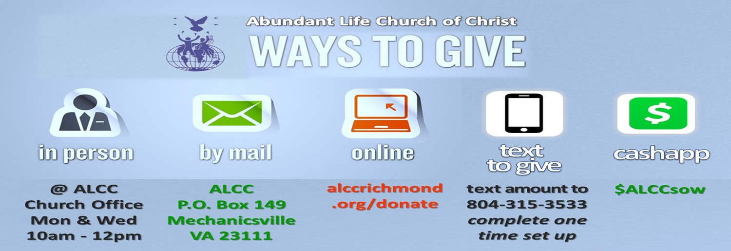 WAYS TO GIVE REVISED FOR WEBSITE - CASH APP & TEXT TO GIVE